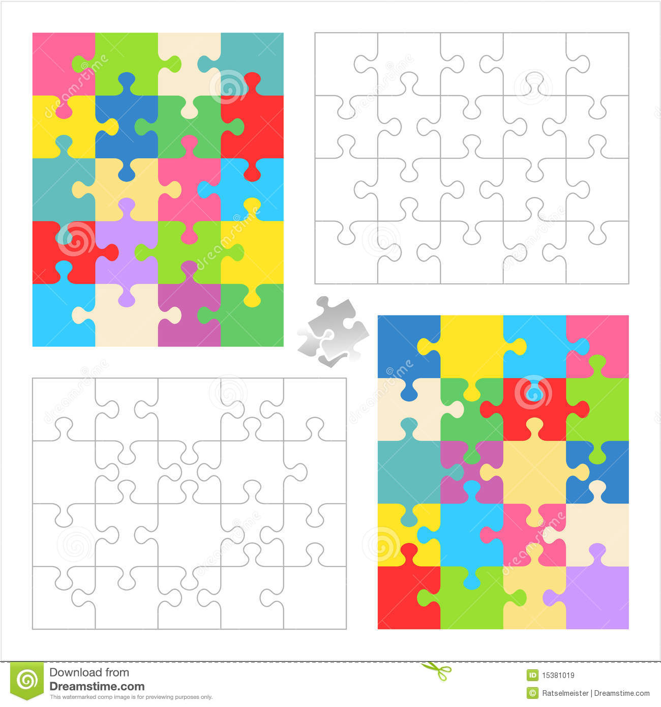 File name jigsaw puzzle blank templates colorful patterns 15381019