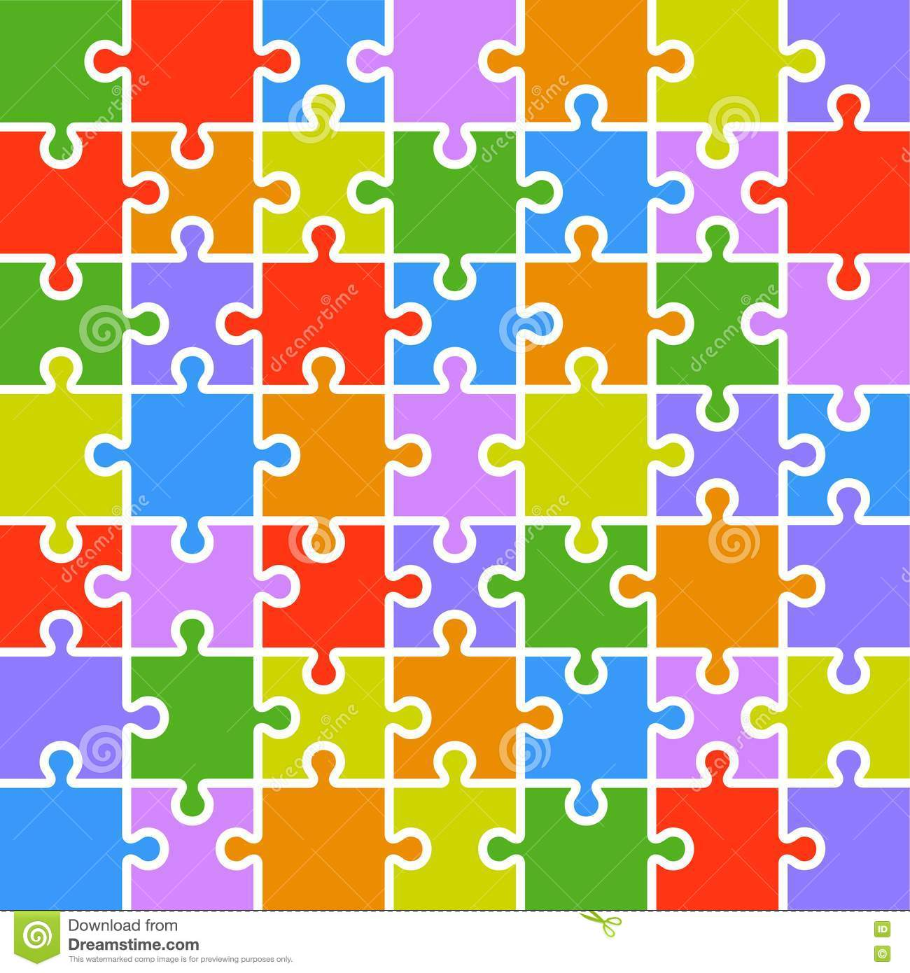 colored puzzle pieces template