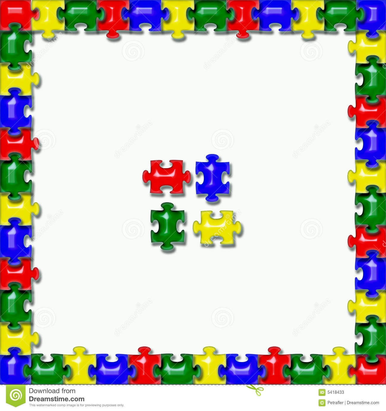 jigsaw puzzle frame background