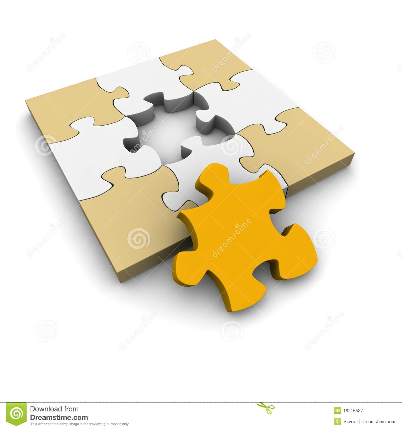 Download Jigsaw Puzzle With Missing Piece Stock Illustration
