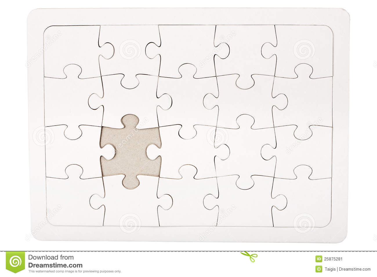 Jigsaw Puzzle Missing Piece Vector