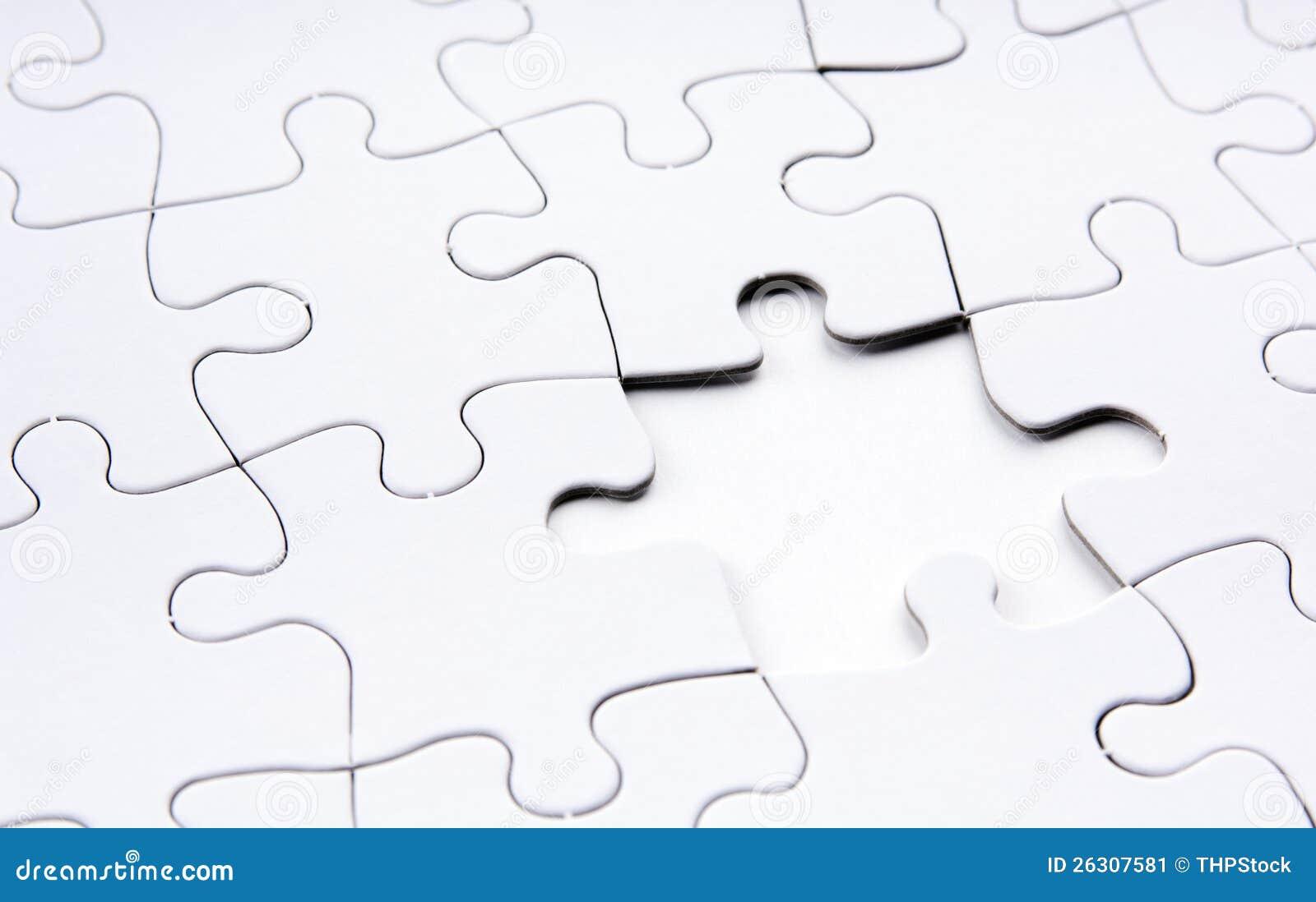 Jigsaw Puzzle Missing Piece Stock Image - Image: 26307581