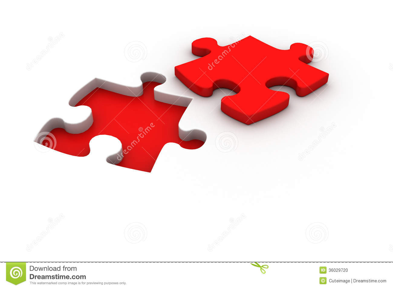 Jigsaw Puzzle With Missing Piece Stock Photo - Image: 36029720