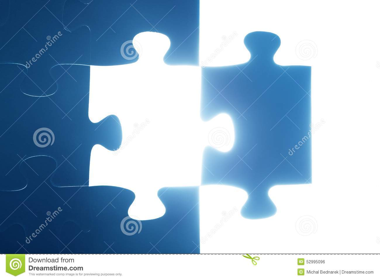 jigsaw puzzle piece missing light glowing solution stock photo image of idea decision 52995096. Black Bedroom Furniture Sets. Home Design Ideas