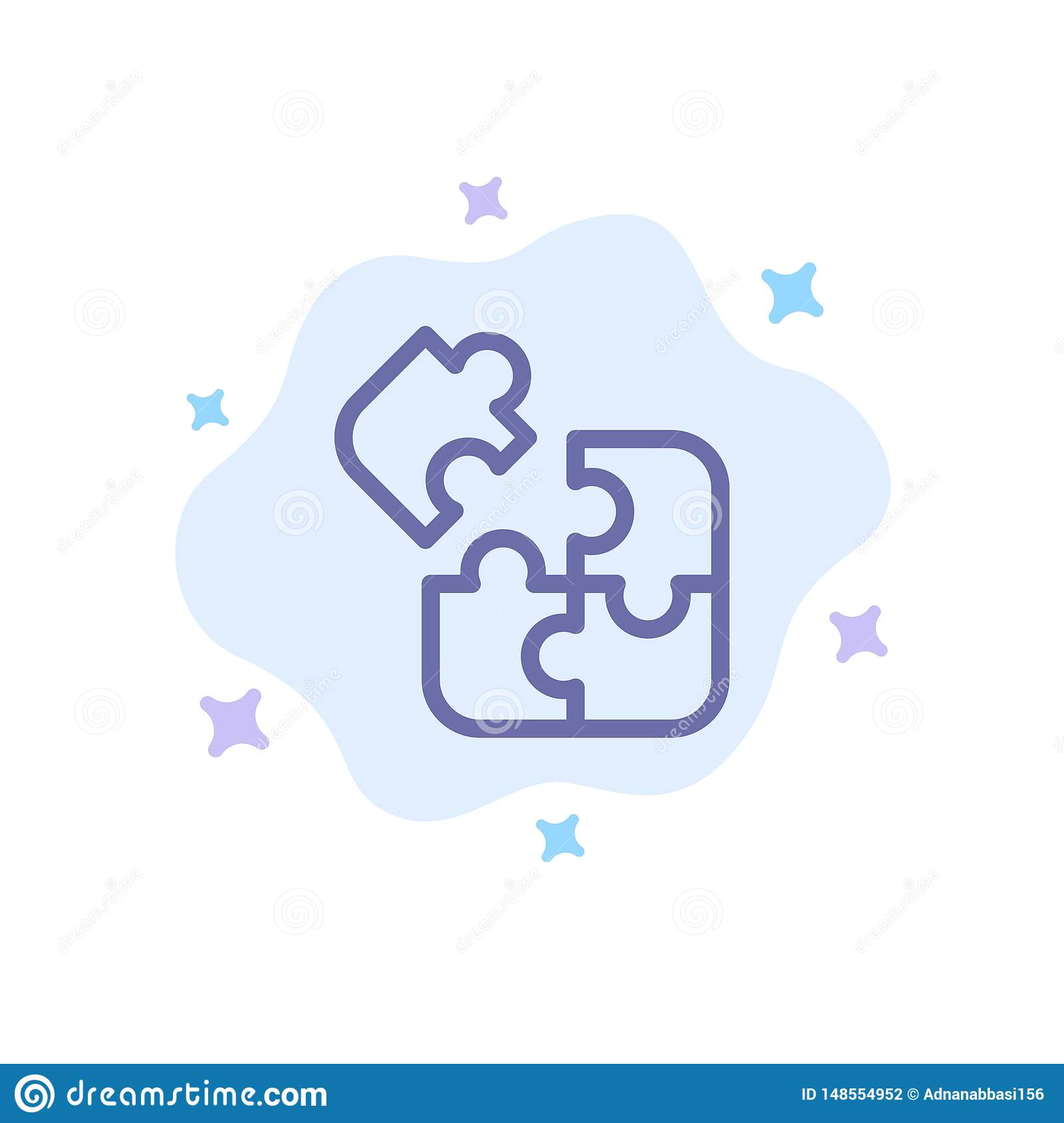 Jigsaw, Puzzle, Science, Solution Blue Icon On Abstract ...