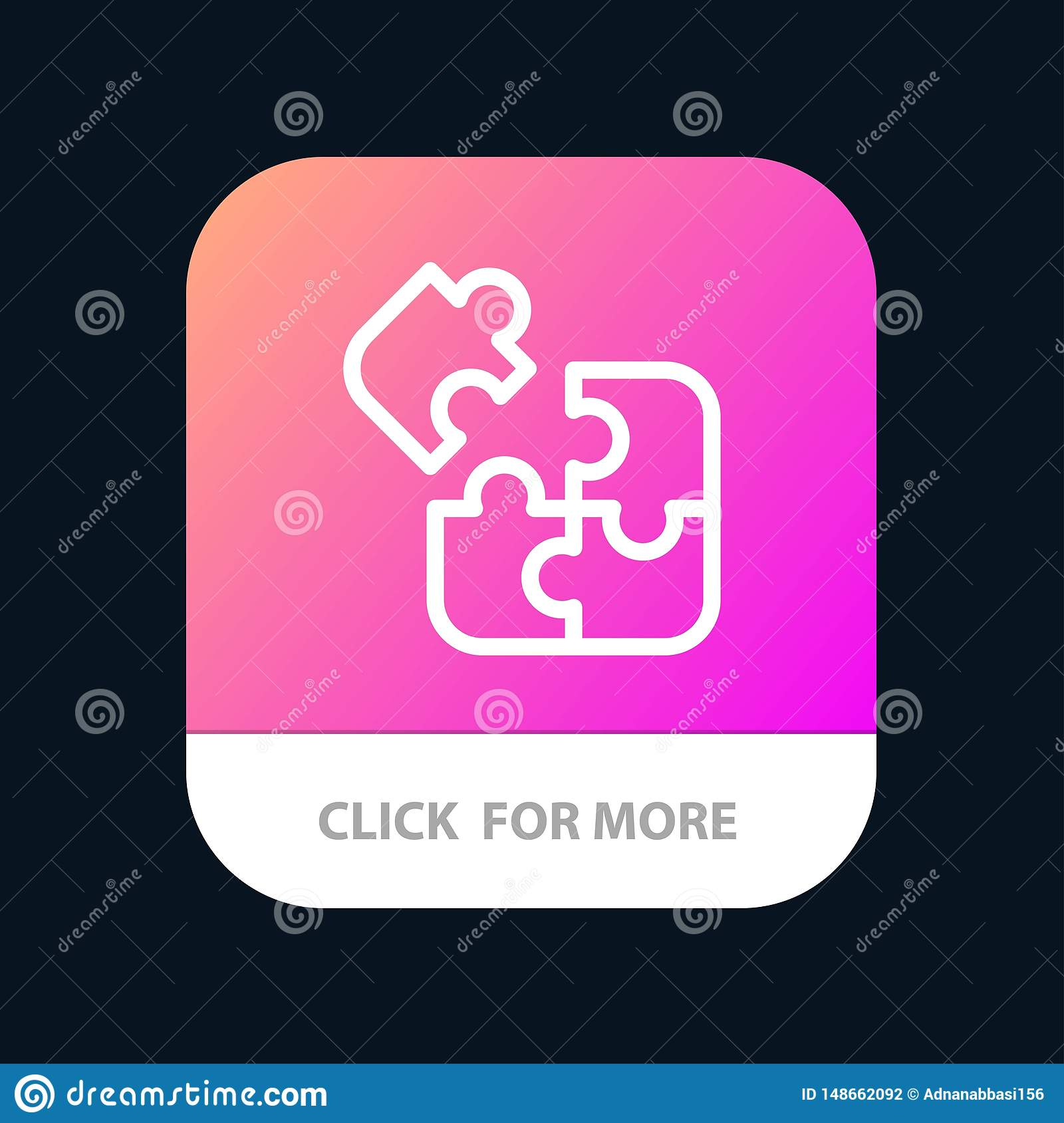 Jigsaw, Puzzle, Science, Solution Mobile App Button ...
