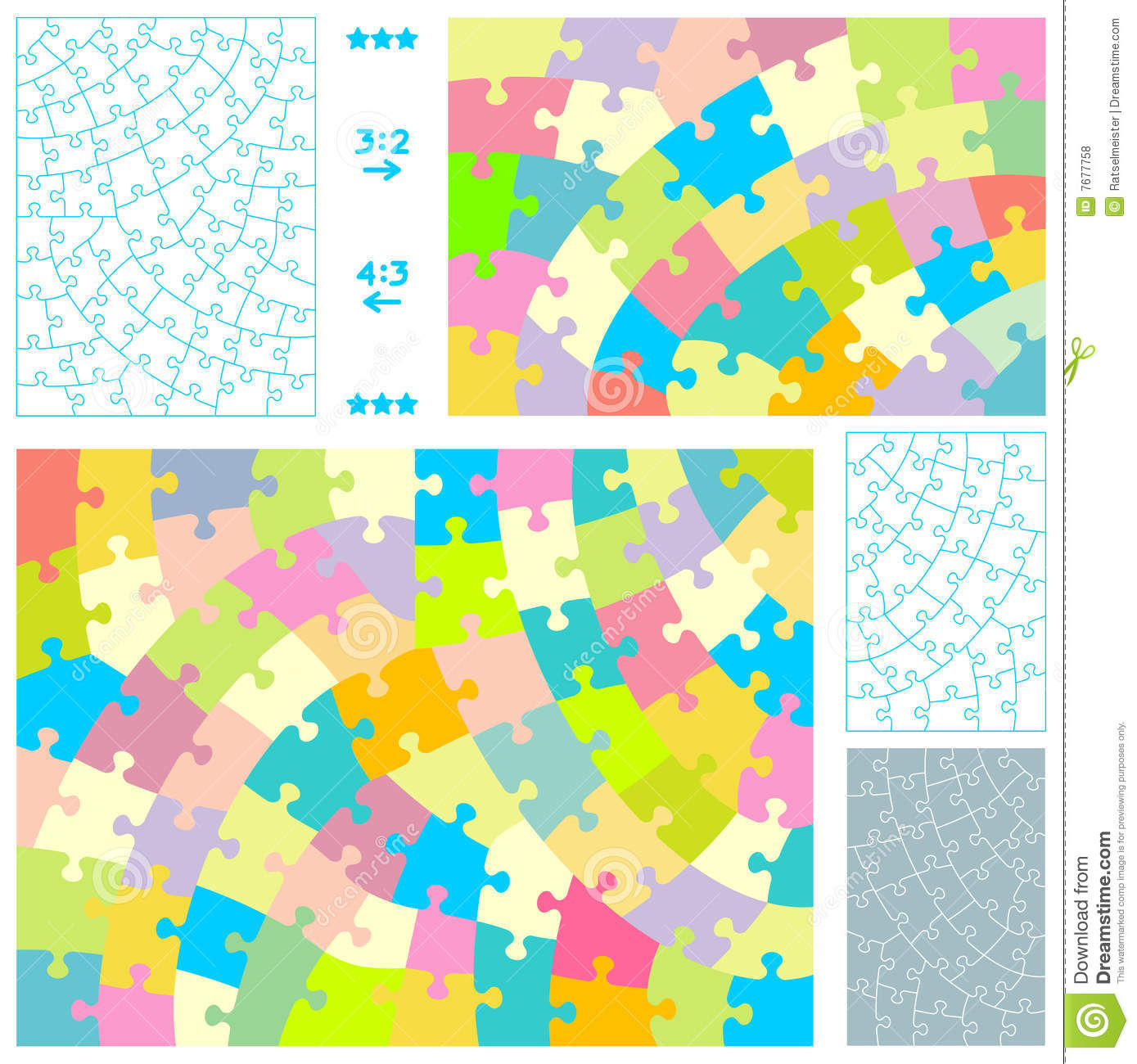 Royalty free stock photos jigsaw puzzle templates
