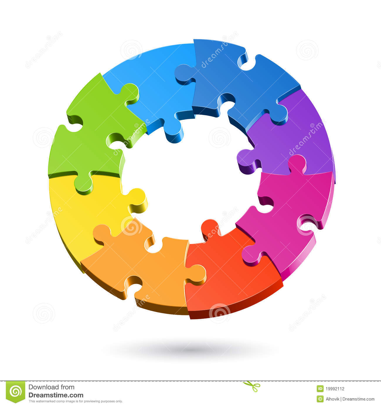 Jigsaw Puzzle Wheel Stock Photography - Image: 19992112