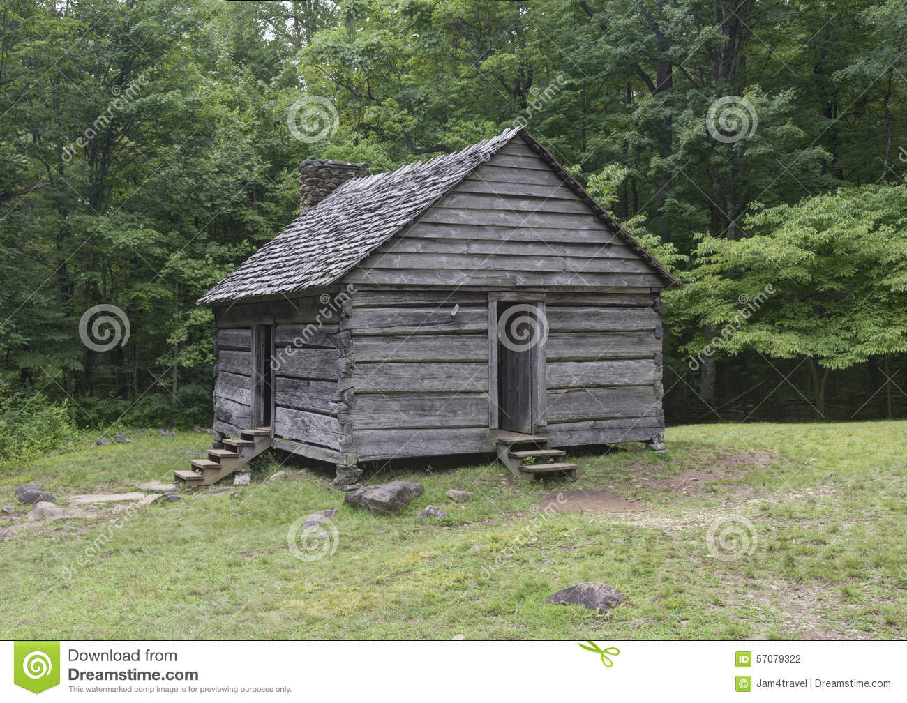 Jim Bales Log Cabin Great Smoky Mountains National Park