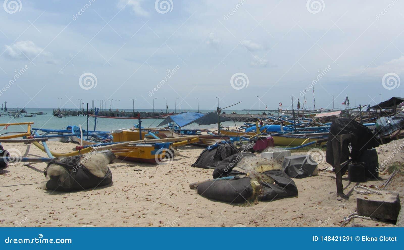 Jimbaran, Bali, port de pêche de l Indonésie