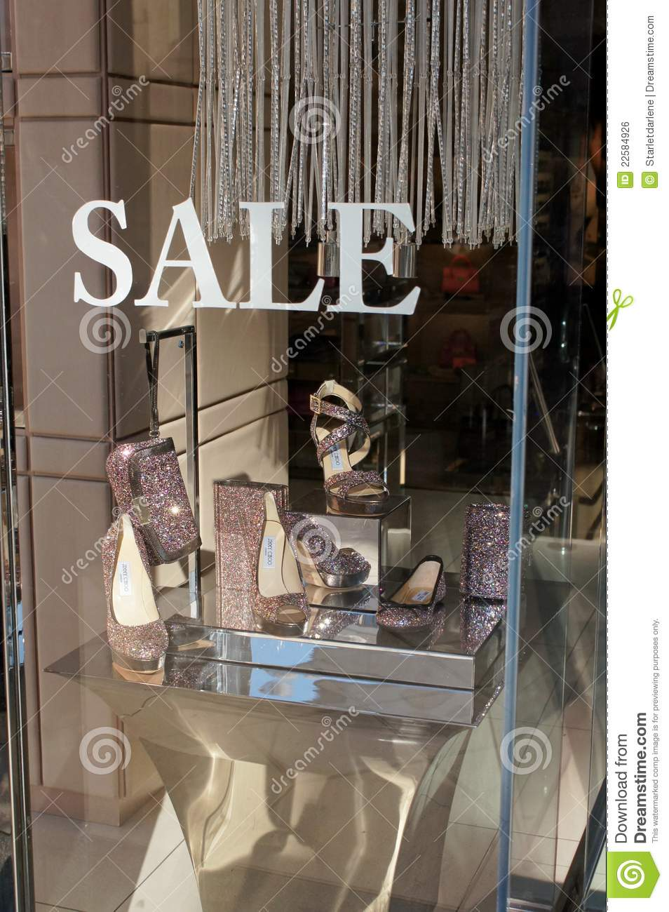 Jimmy Choo Window Display Editorial Photo Image Of Shoes
