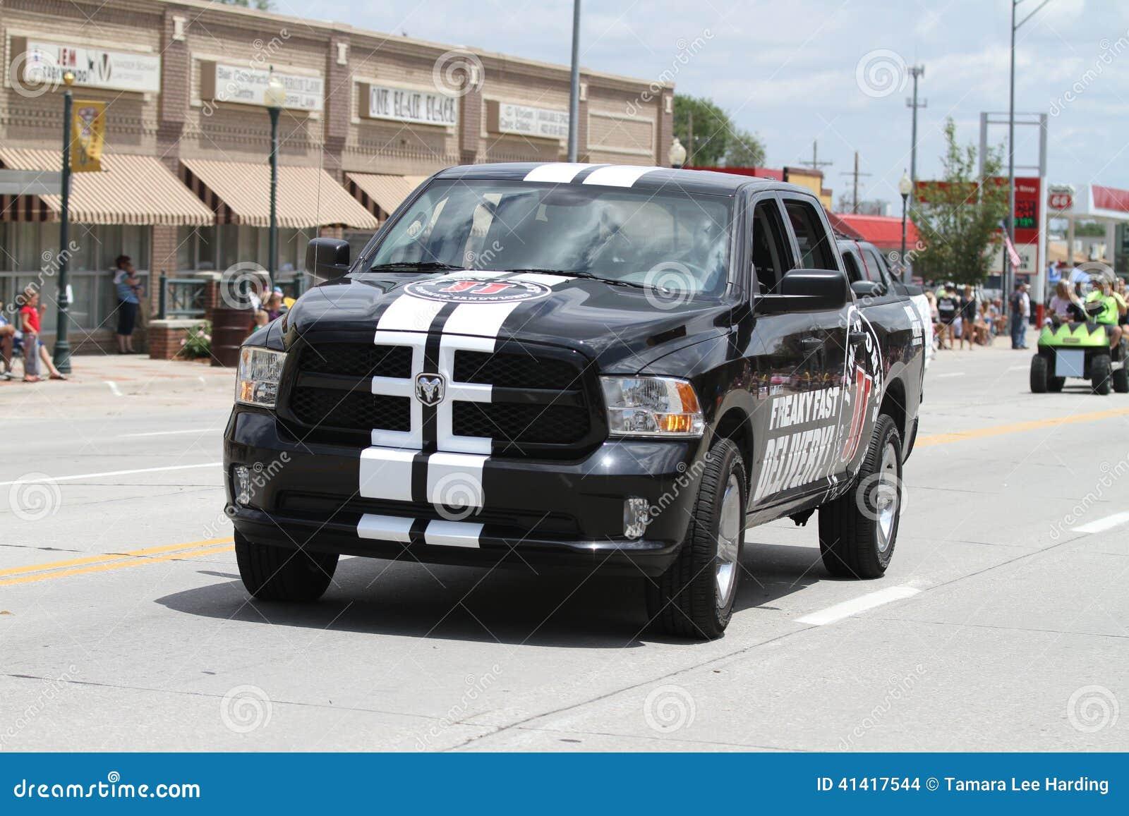 Jimmy Johns Delivery Truck eine Kleinstadtparade in Amerika
