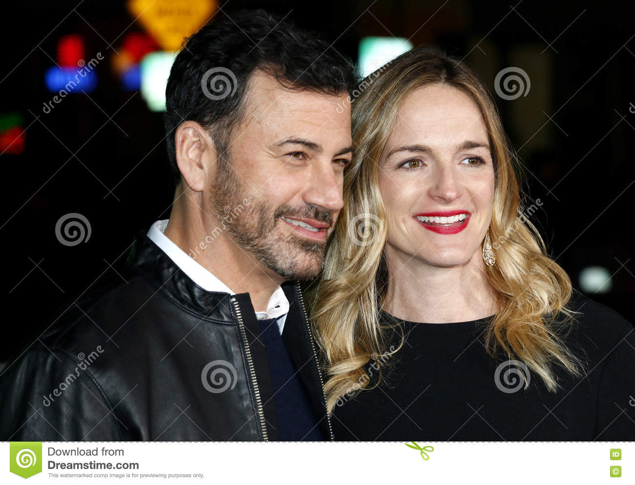 Jimmy Kimmel And Molly McNearney Editorial Stock Image - Image of ...