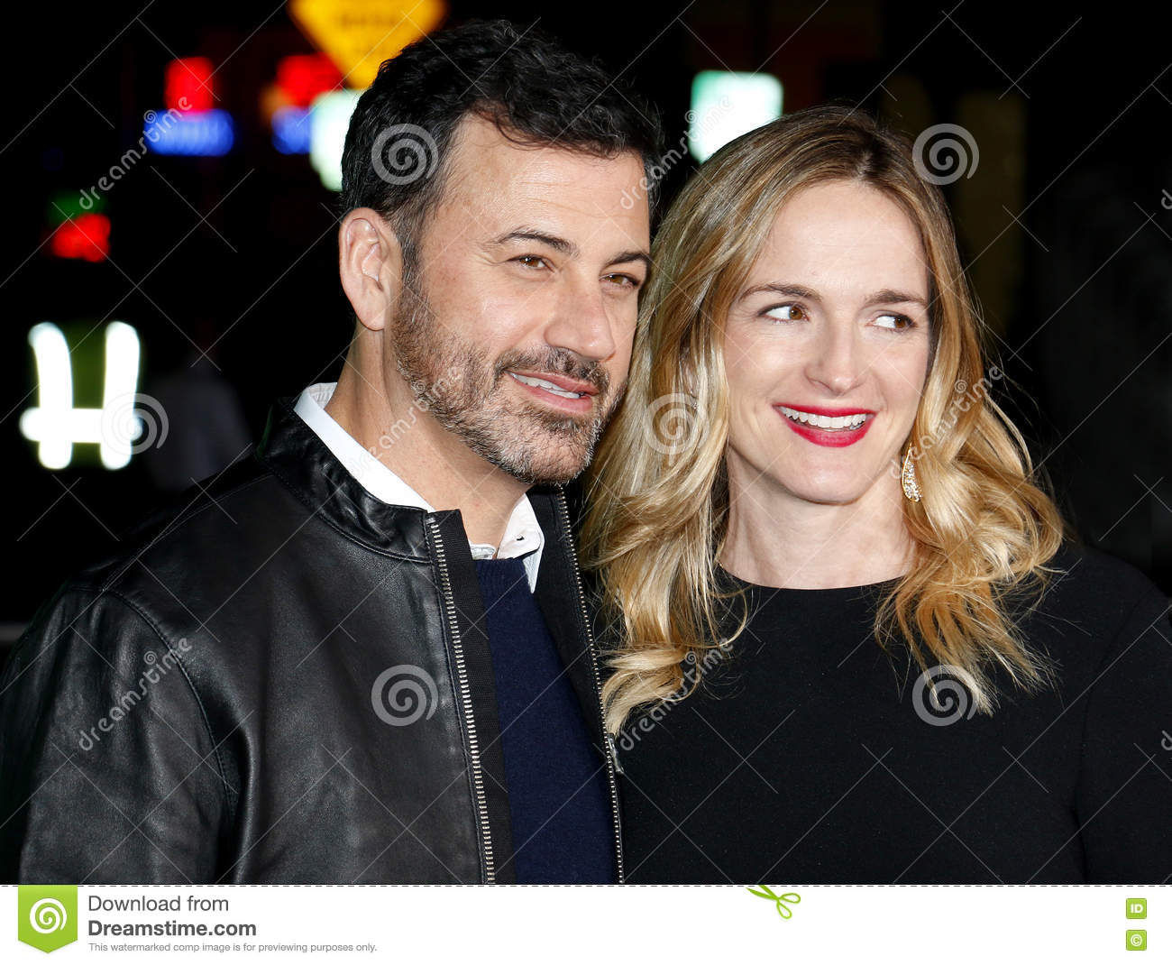 Jimmy Kimmel And Molly McNearney Editorial Photo - Image of cinema ...