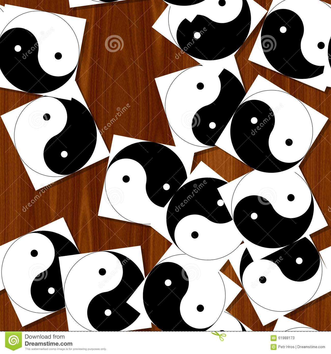 Jin jang stock illustration image 61988173 for Table yin yang