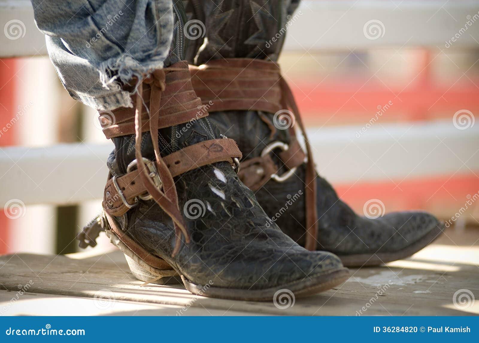 Jinete de rodeo de Boots Brown Leather del vaquero