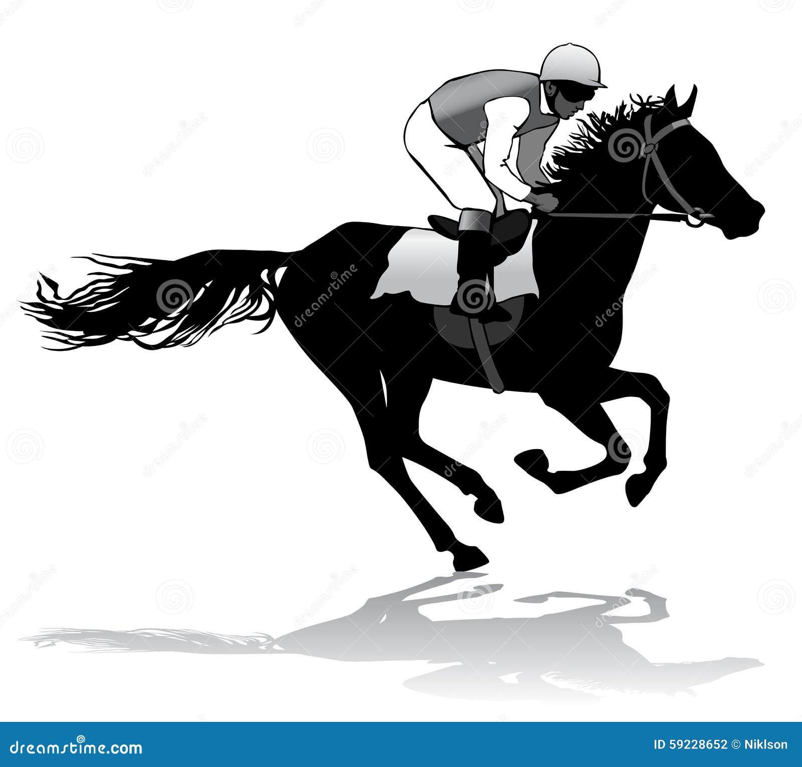 Download Jinete en un caballo ilustración del vector. Ilustración de animales - 59228652
