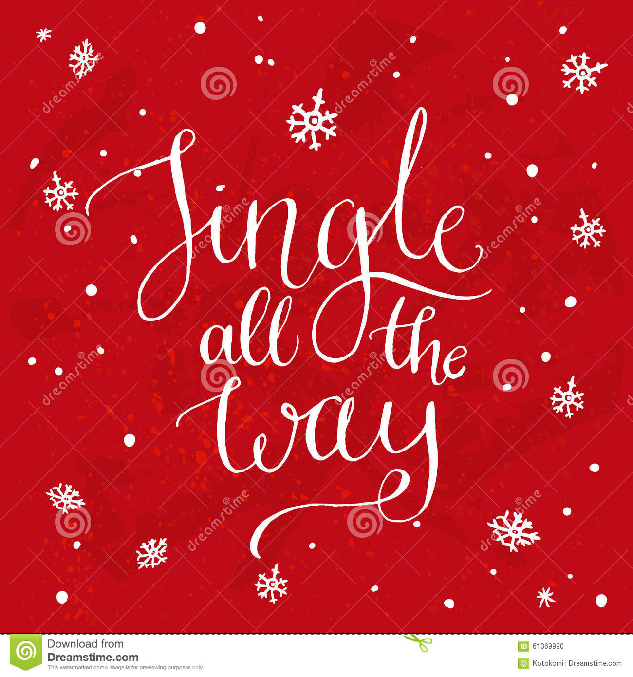Jingle all the way christmas song inspirational stock vector christmas song inspirational quote vector calligraphy for greeting cards at red background m4hsunfo