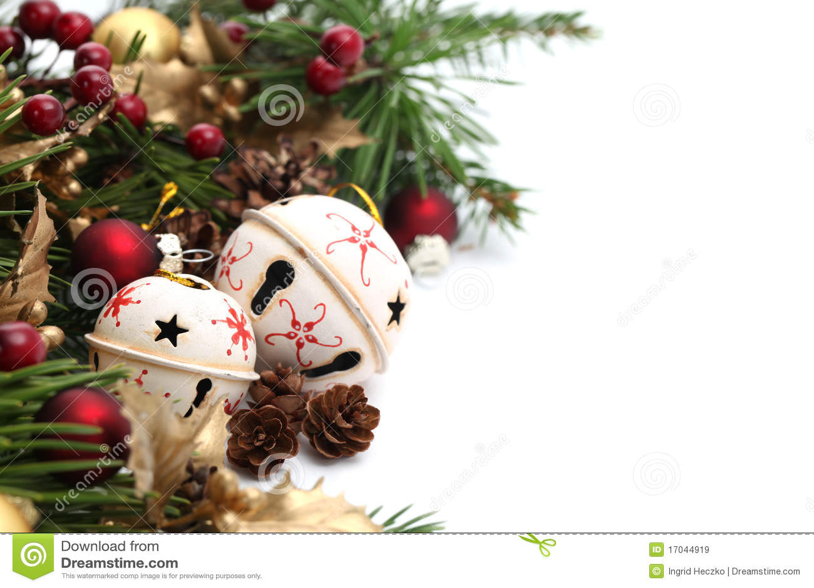 Bell christmas ornament - Jingle Bell Christmas Border
