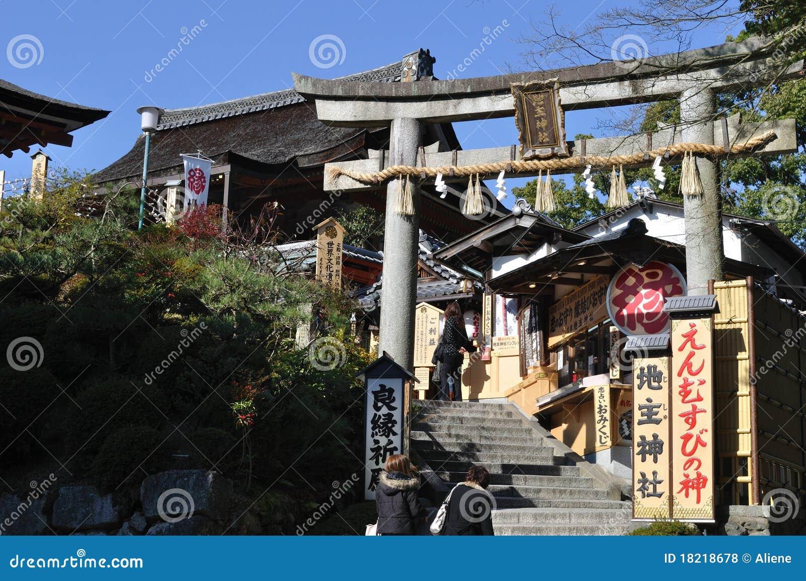 Torii Of Jishu-jinja A Matchmaking Shrine