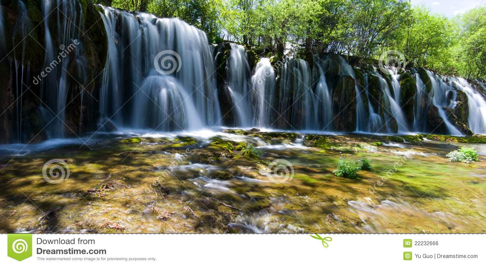 Jiuzhaigou Panda Pool waterfall