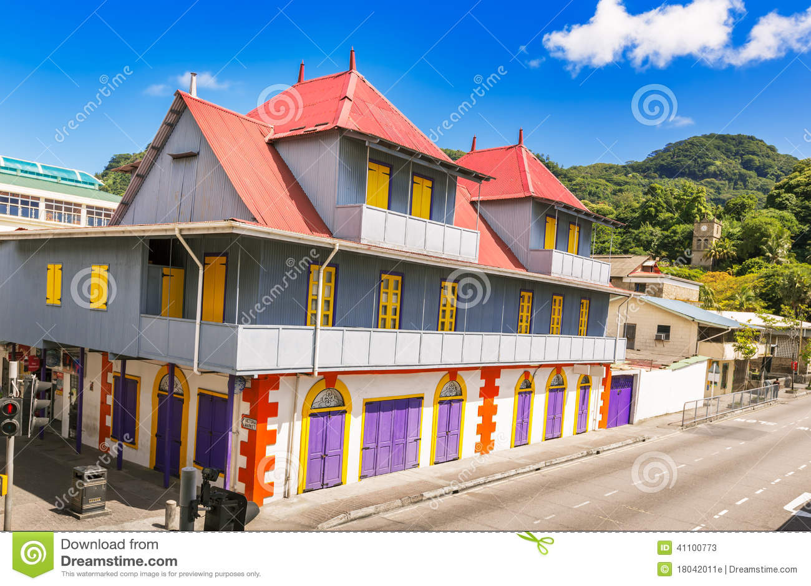 Jivan Importuje budynek jeden ikona Seychelles's dziedzictwo