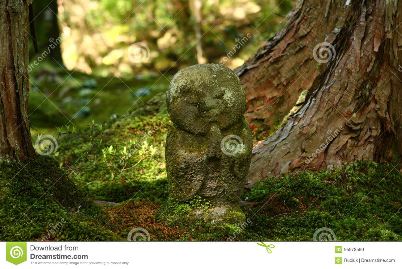 Jizo Statue In A Buddhist Temple