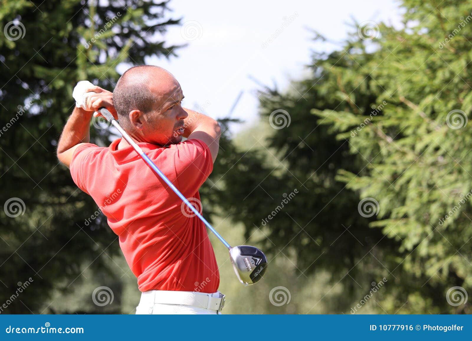 JL Romein bij het golf Prevens Trpohee 2009