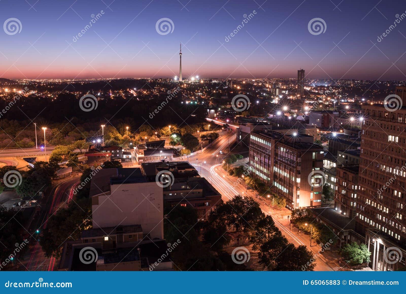 Joanesburgo na noite