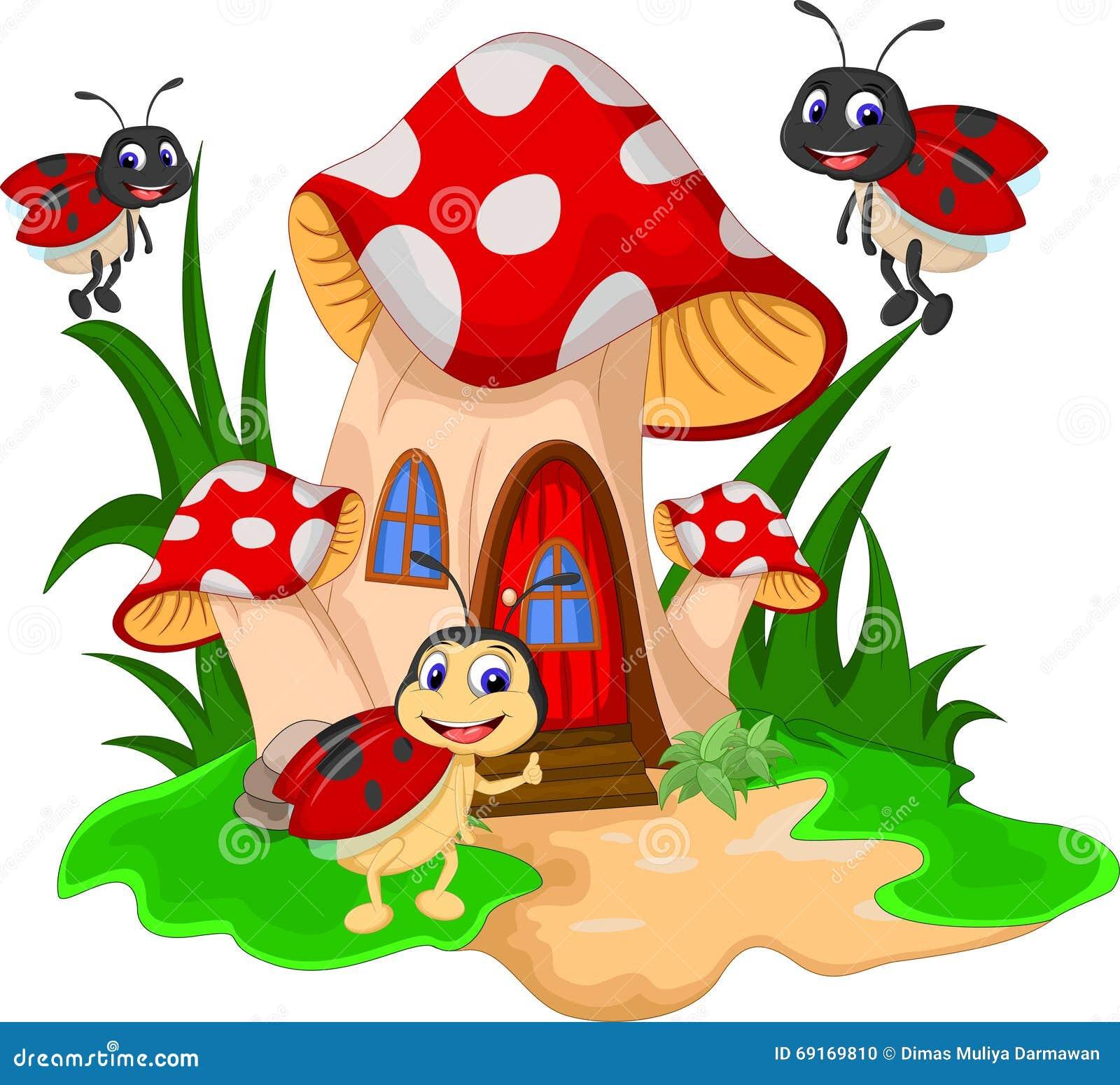 joaninhas dos desenhos animados no cogumelo ilustra u00e7 u00e3o ladybugs clip art public domain ladybug clip art free download