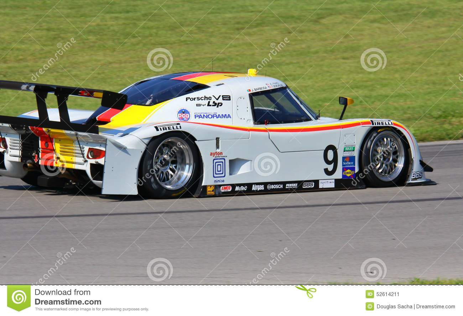 Joao Barbosa Races The Porsche Editorial Photo - Image of
