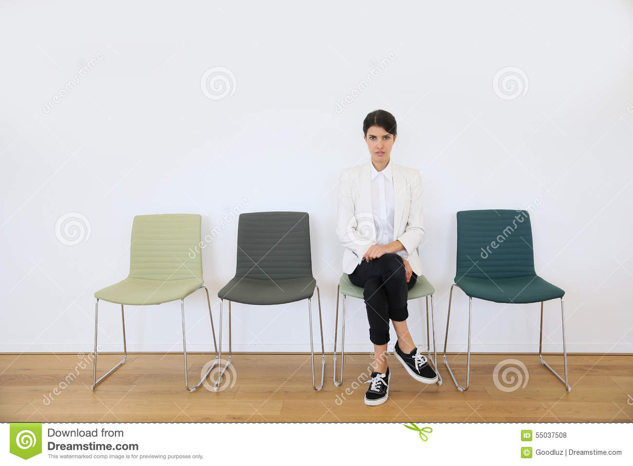 Job applicant waiting for interview
