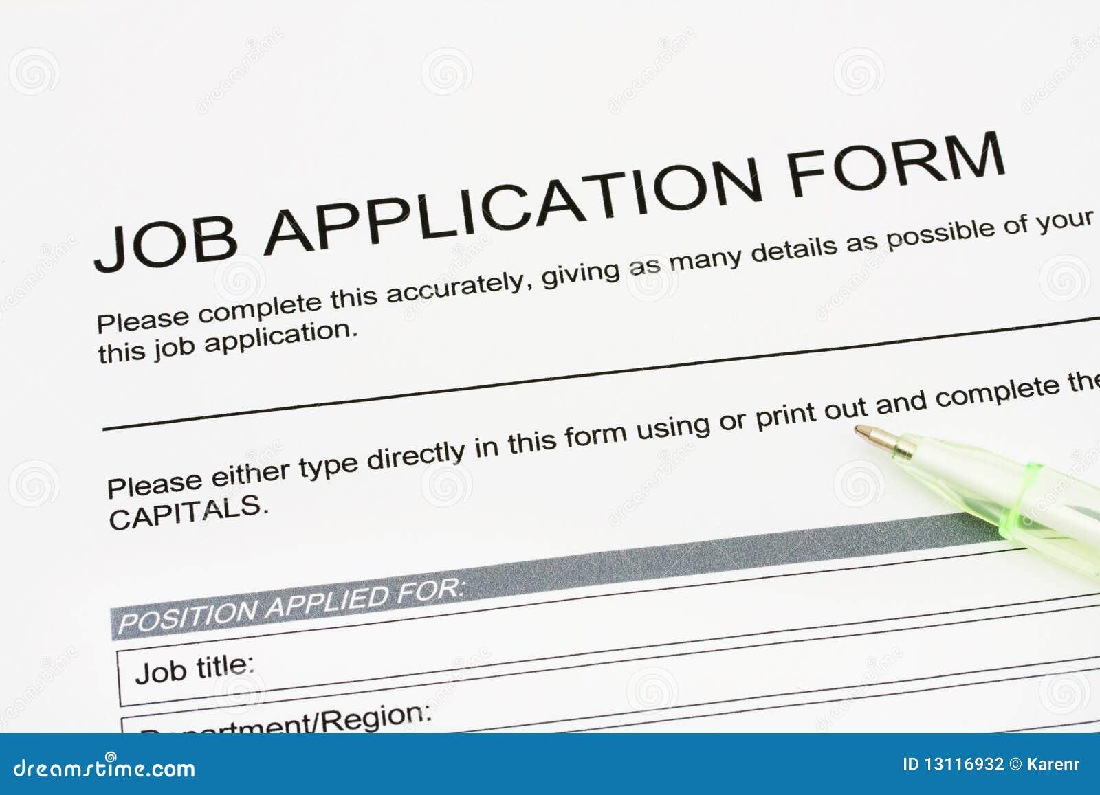 Job Application stock photo. Image of hired, writing - 13116932