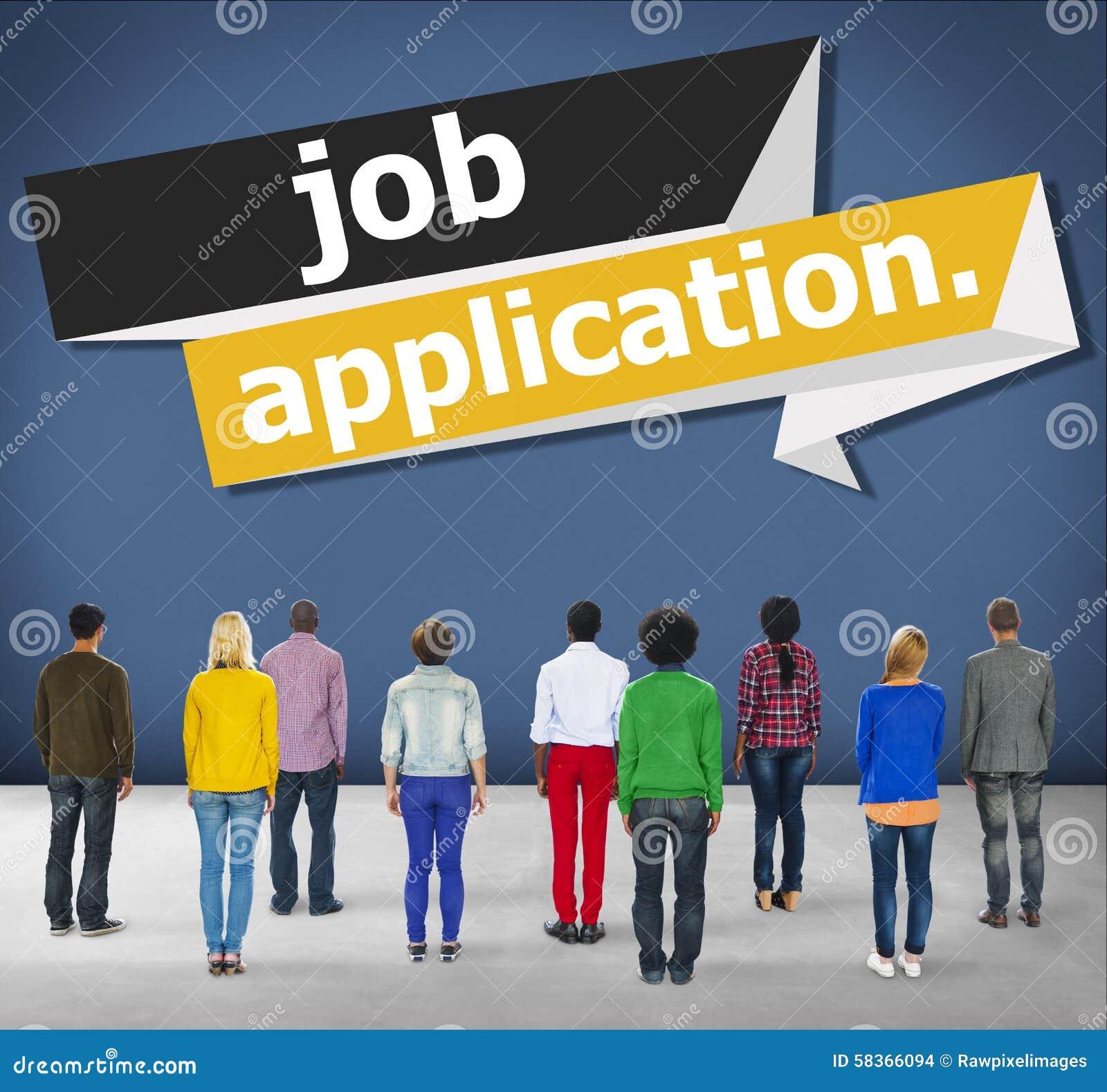 Job Application Applying Recruitment Occupation-Carrièreconcept