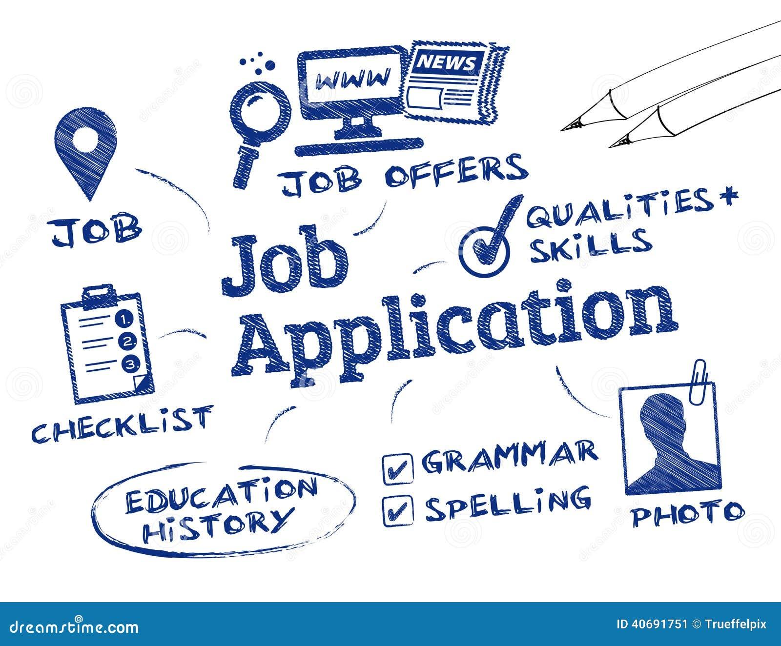 Job application stock illustration illustration of search 40691751 job application spiritdancerdesigns Images