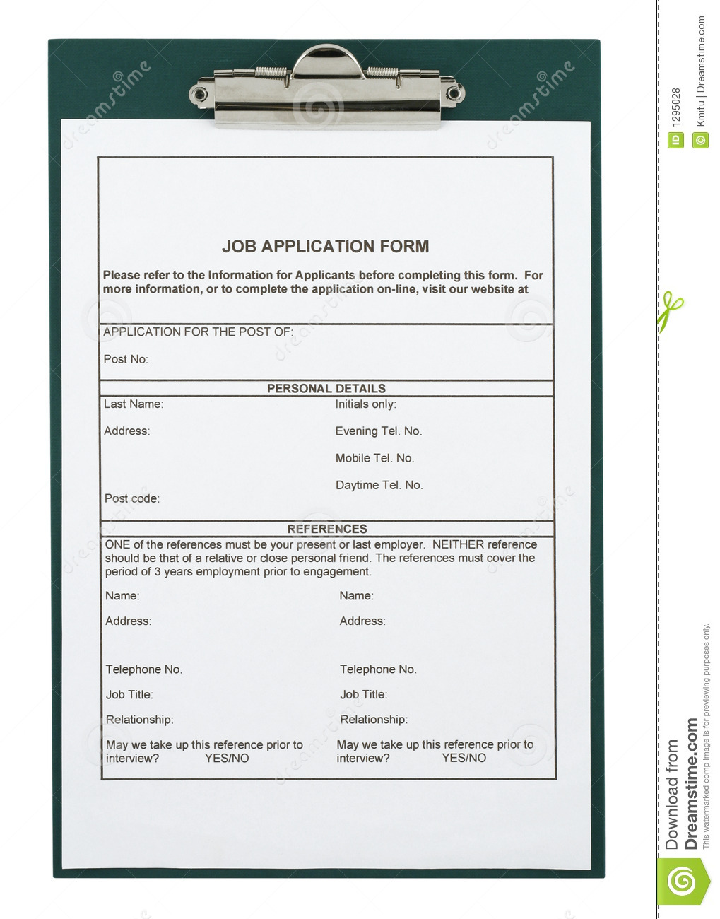 job application form royalty stock photos image 1295028 job application form