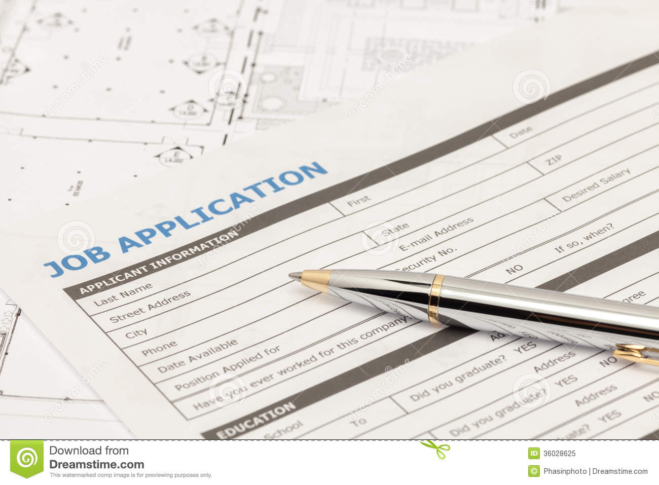 Job application form stock image. Image of technical - 36028625