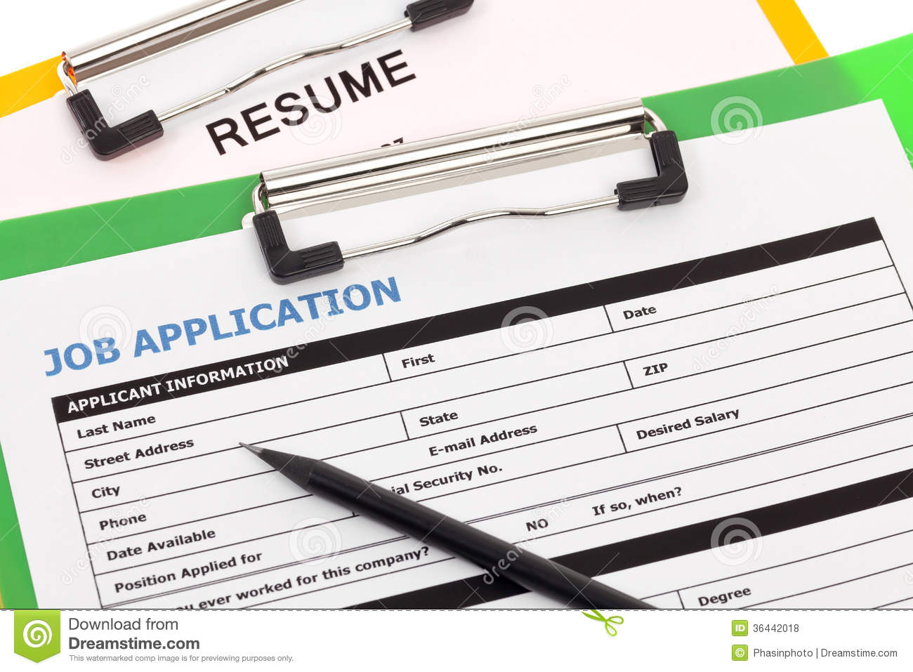job application and resume stock photo  image of candidate