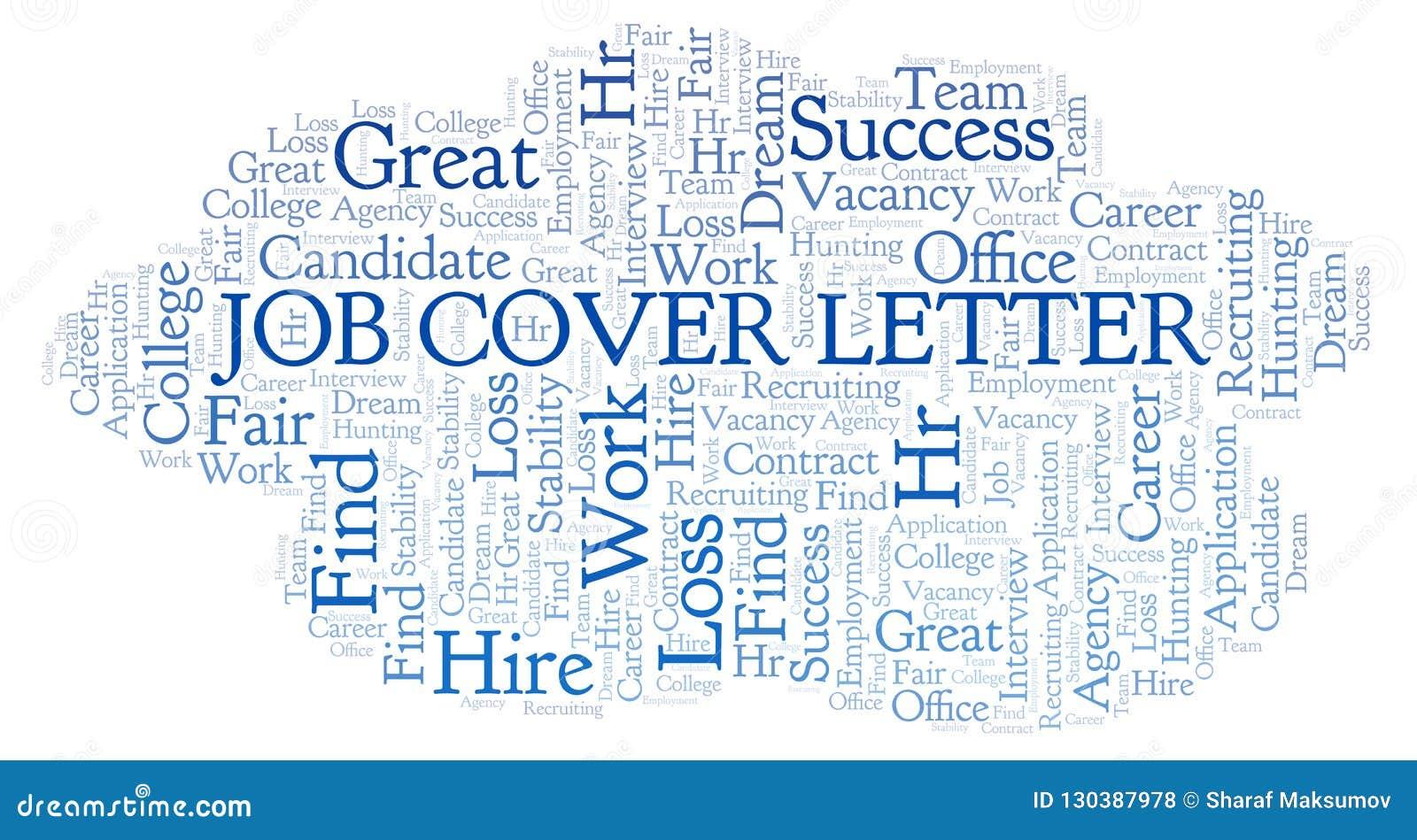Job Cover Letter Word Cloud. Stock Illustration ...