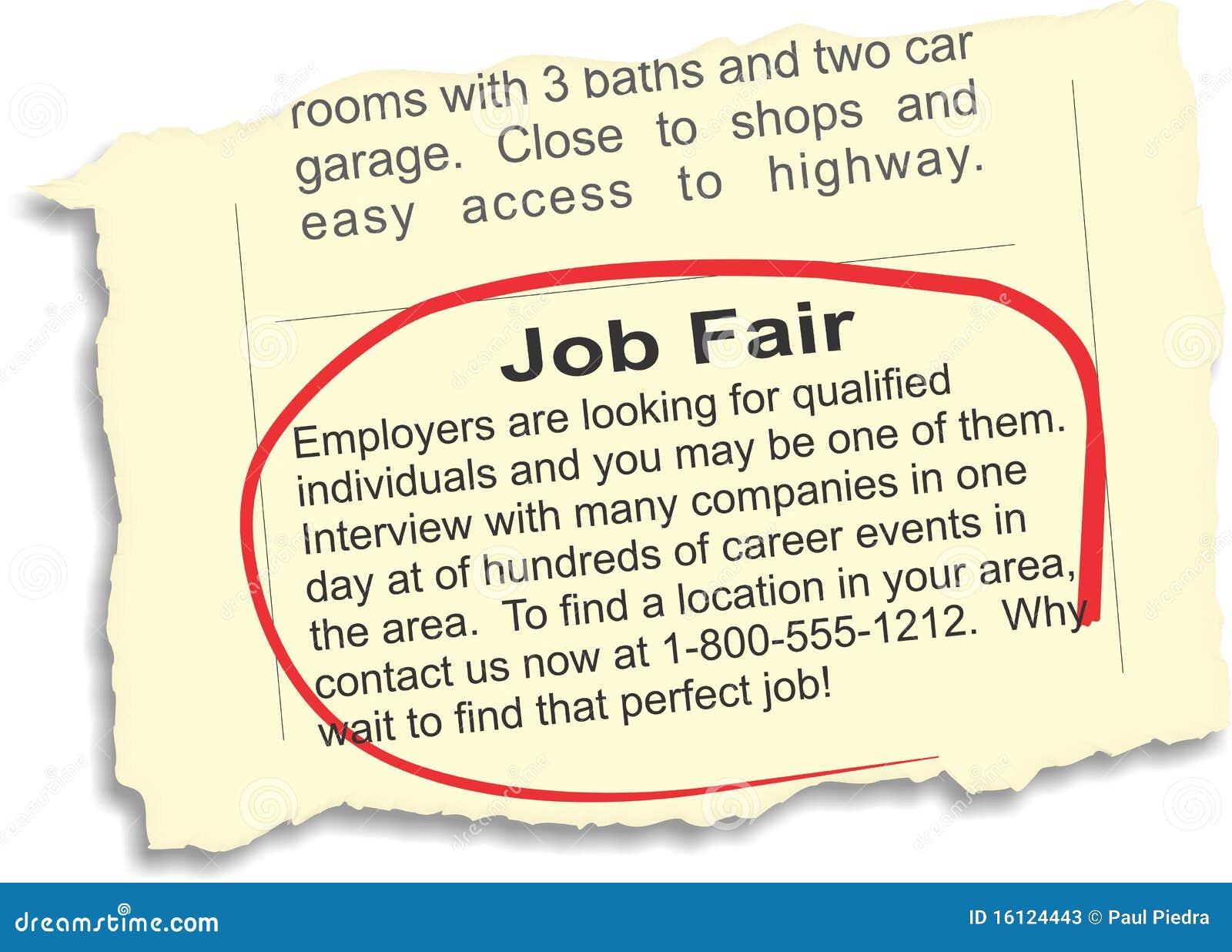 Job Fair Ad Stock Vector Illustration Of Isolated