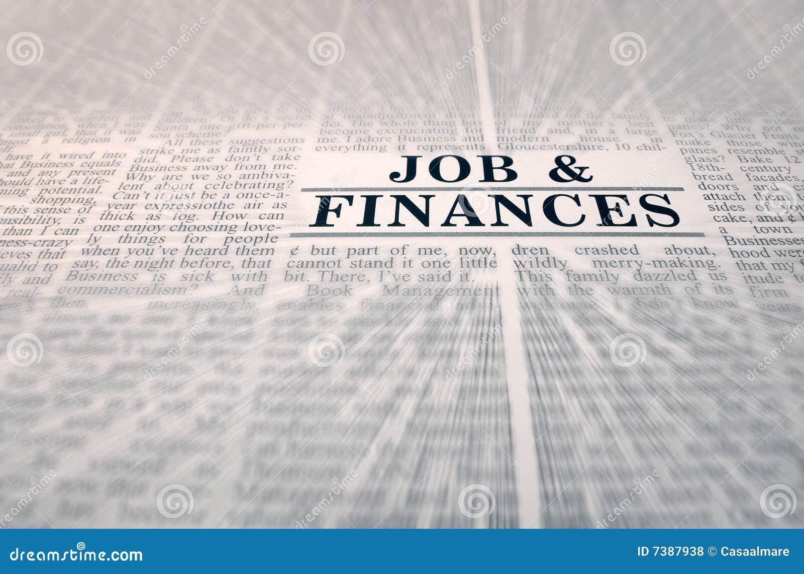 Job & finances