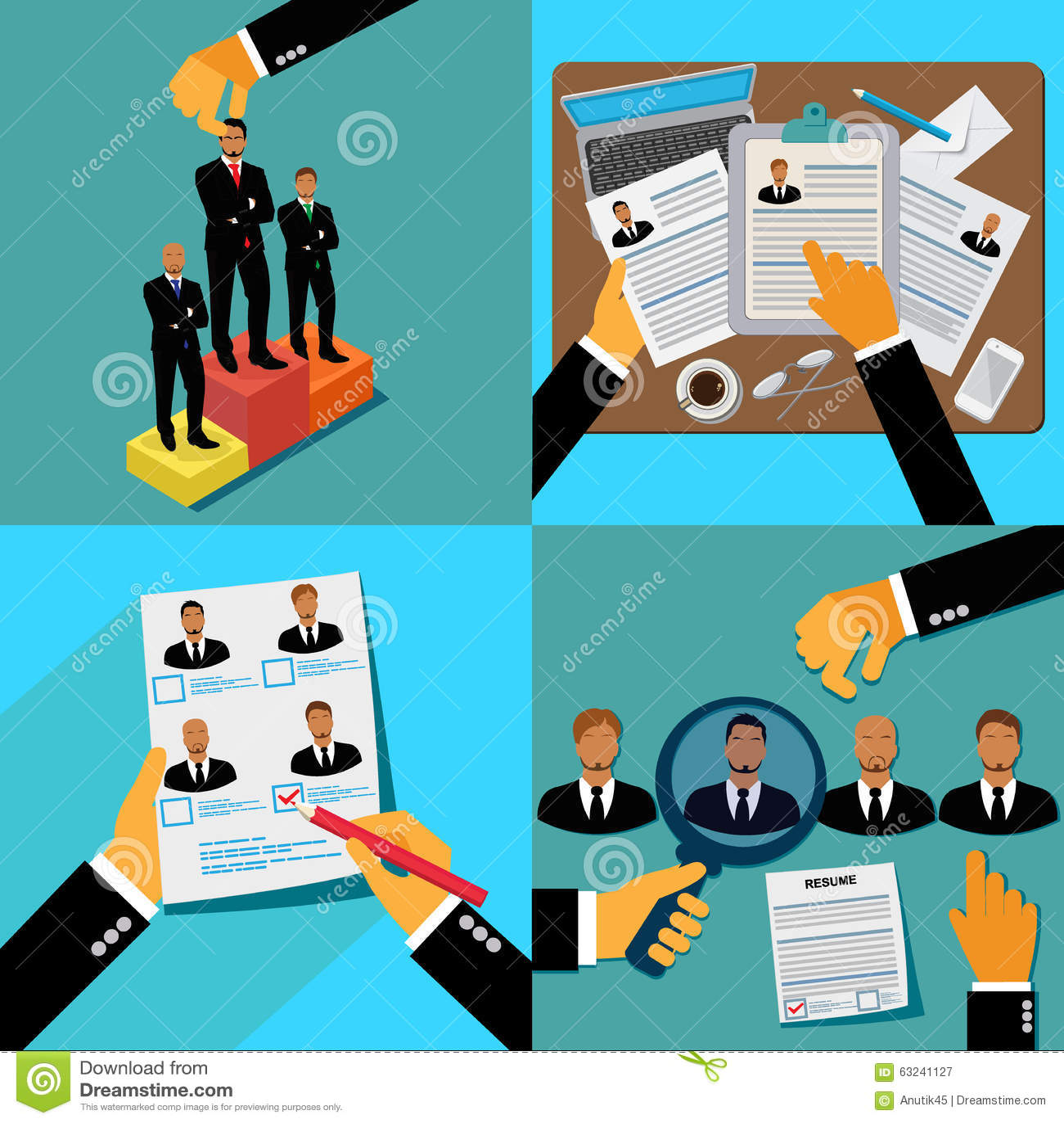 job hunters recruitment stock vector image 63241127 job hunters recruitment