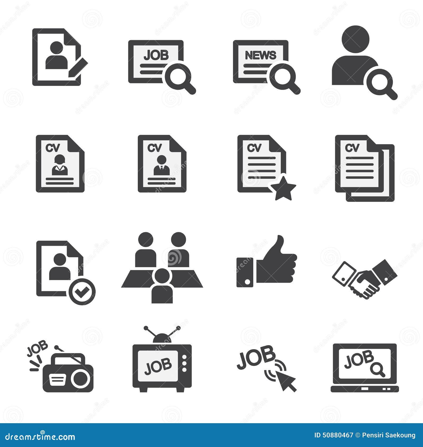 Job Icon Set Stock Vector - Image: 50880467