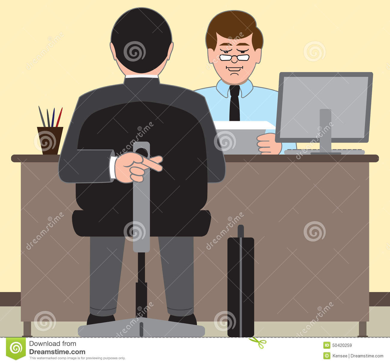 job interview stock vector image  job interview