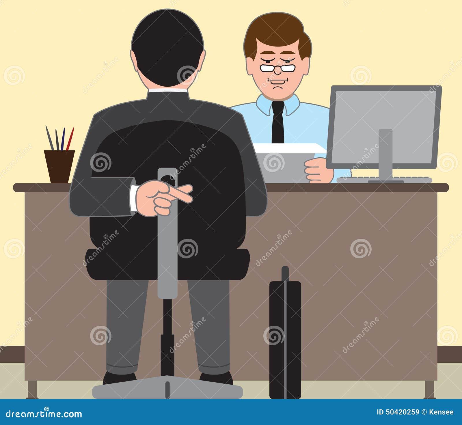 job interview stock vector image  job interview