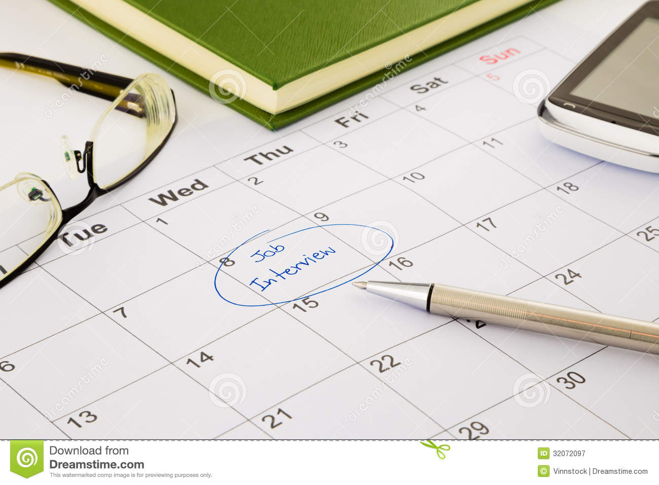 download job interview appointment on schedule stock image image of appointment important 32072097