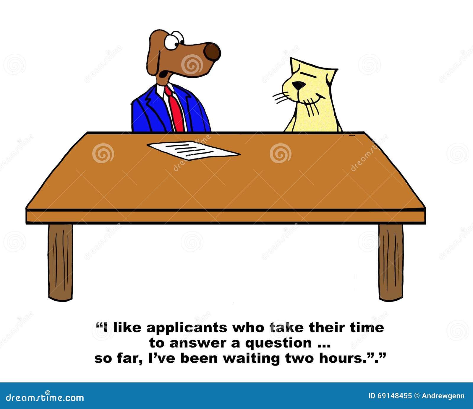 Job Interview Stock Illustration - Image: 69148455