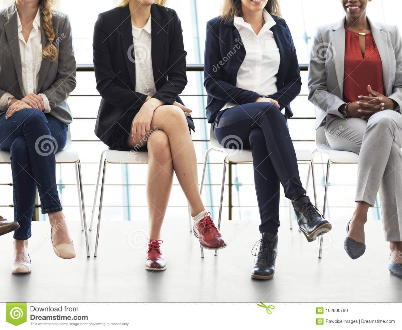 Job interview for business people