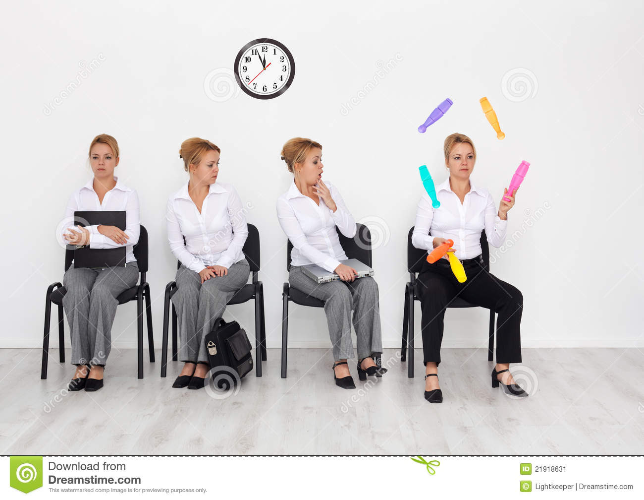Job Interview Candidates With Special Abilities Stock Image ...