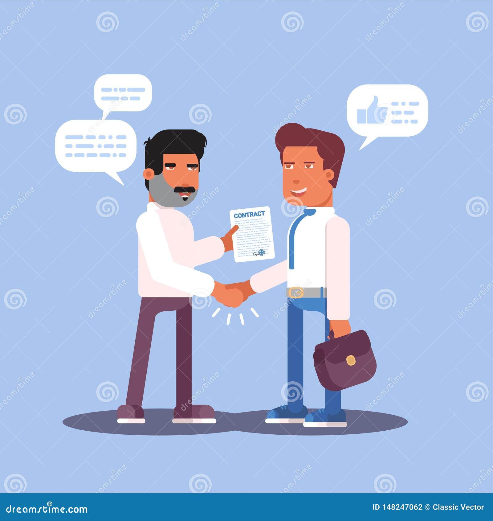 Job interview cartoon color design. Vector illustration